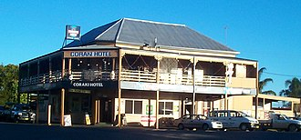 Coraki, New South Wales - The Coraki Hotel on Richmond Terrace, Coraki's main street