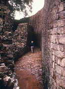 Corridor in Great Zimbabwe Ruins -- 1975.jpg