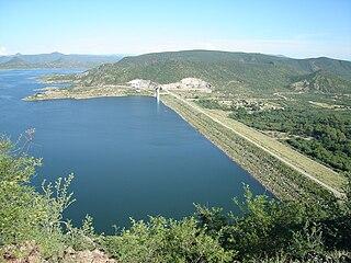 Álvaro Obregón Dam dam in Sonora, Mexico