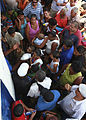 Costa Ricans await care outside a medical site in Limon, Costa Rica, Aug. 22, 2010, during Continuing Promise (CP) 100822-M-PC721-249.jpg