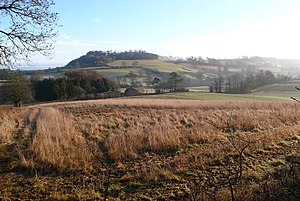 Dogbury Hill - View over the countryside near Minterne Magna looking east towards Dogbury Hill