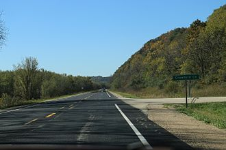 Crawford County, Wisconsin - The sign for Crawford County on WIS60