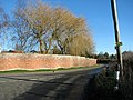 Crinkle-crankle wall along The Street, Easton - geograph.org.uk - 2766670.jpg