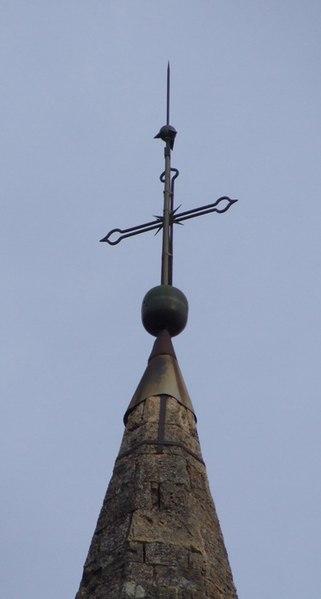 File croix au sommet du clocher de l 39 glise saint - La salle les alpes office du tourisme ...