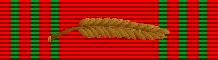 Croix de Guerre 1940-1945 with palm (Belgium) - ribbon bar
