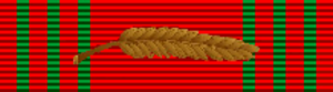 Clift Andrus - Image: Croix de Guerre 1940 1945 with palm (Belgium) ribbon bar