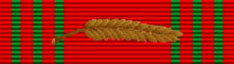Sidney Hinds - Image: Croix de Guerre 1940 1945 with palm (Belgium) ribbon bar