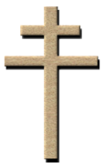 A two-barred crucifix