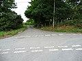 Crossroads by Llwyniorwerth Uchaf farm - geograph.org.uk - 904450.jpg