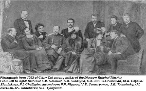 César Cui - Cui among artists of the Moscow Bolshoi Theatre, 1902