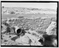 Culvert and retaining wall at Agate Bridge. Looking NW. - Petrified Forest National Park Roads and Bridges, Holbrook, Navajo County, AZ HAER AZ-58-16.tif