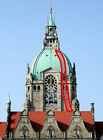 New Town Hall (Hanover) - Image: Cupola Hanover City Hall