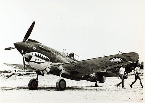 フライングタイガースに所属するP-40Cトマホーク