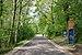 Cyclist entering Belgium through Plombières (DSCF5915).jpg