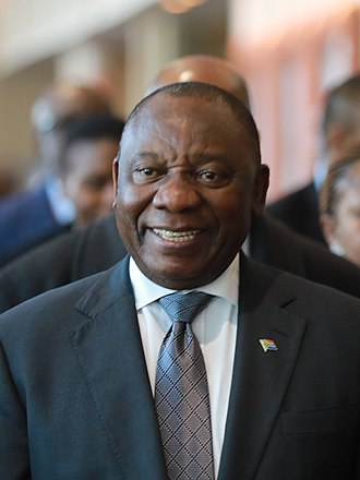 President of South Africa - Image: Cyril Ramaphosa (29653248377) (cropped)