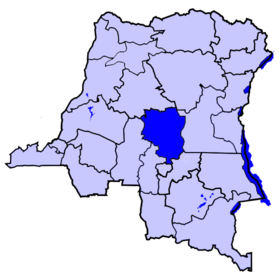 Localisation du district de la Sankuru
