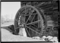 DETAIL SHOWING WHEEL - Miller's Mill, Route 60, 12 miles West of Lexington, Lexington, Lexington, VA HABS VA,82-LEX.V,3-3.tif