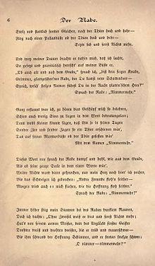 Der Rabe Gedicht Deutsch