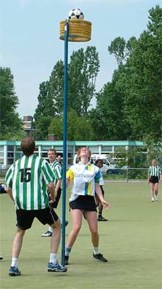 Hybrid sport - A korfball match in the Netherlands between 'Trekvogels' and 'OZC'