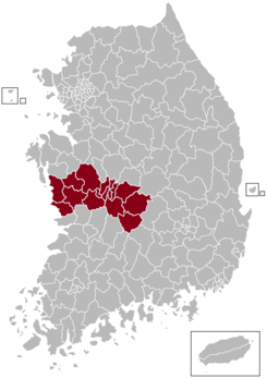 Daejeon Postal central office precinct map.png