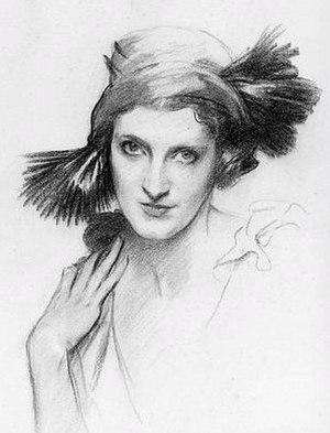 La statue retrouvée - Daisy Fellowes, who danced the title role of La statue retrouvée. Portrait by John Singer Sargent