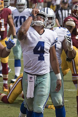 Dak Prescott - Prescott playing against the Washington Redskins in 2016