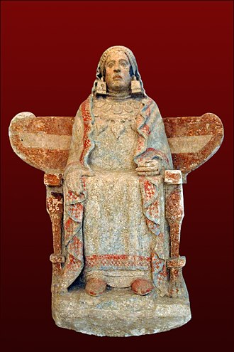 Spanish art - Lady of Baza, ancient Iberian sculpture from Baza, Granada