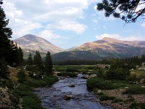 Sierra Nevada (U.S.) - The Sierra hosts many waterways, such as the Tuolumne River.