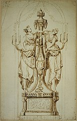 Candlestick in Louis XVI style with female figures