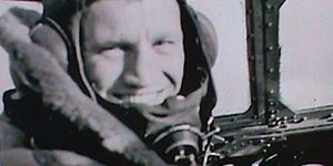 Phil Lamason - Lamason in his Lancaster bomber before a mission over Germany.