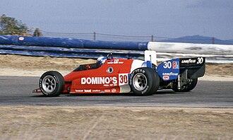 Danny Sullivan - Sullivan's Lola T800 at Laguna Seca in 1984.
