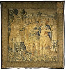 Tapestry with Three Standing Figures