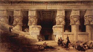 The Temple in Dendera