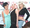 De'Bella, Nicki Hunter, Kylie Ireland at Hunter CARE bash 1.jpg