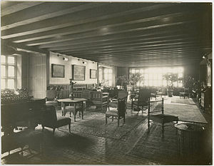 Lockwood de Forest - Sitting Room, The Deanery, Bryn Mawr College, Bryn Mawr, Pennsylvania. Decorated by de Forest in 1908.