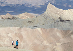 Death Valley view from Zabriskie Point with people 2013.jpg