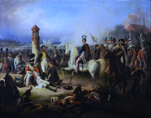 Austro-Polish War - Image: Death of Cyprian Godebski at the Battle of Raszyn 1809 by January Suchodolski (1855)