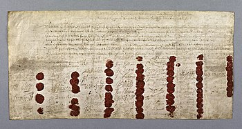 Death warrant of Charles I of England