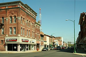Decatur, Indiana - Decatur downtown in 2006.