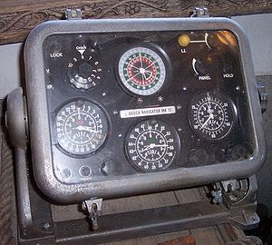 "Decca Navigator System - The display head, or ""decometer bowl"", of a Decca Navigator Mk 12 (ca. 1962).  Not shown is the much larger receiver unit."