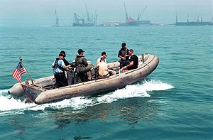 Gulf Air Flight 072 - Group of U.S Navy assisting the salvage operations of Gulf Air Flight 072