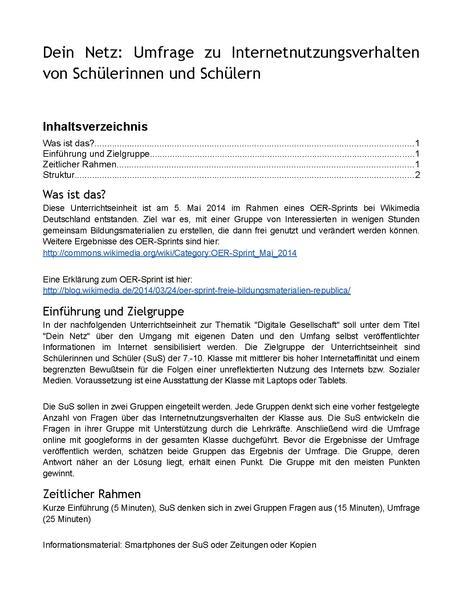 File:Dein Netz Umfrage zu Internetnutzungsverhalten von Schülerinnen und Schülern.pdf