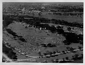 Manila North Cemetery - Aerial view of Cementerio del Norte (1928)