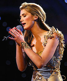 Goodrem performing on Carols by Candlelight on December 24, 2006.