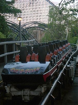 Demon (roller coaster) - Demon's black train was involved in the accident.