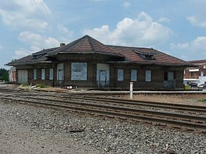 Bring Us Together - The Deshler, Ohio railroad station, pictured in 2009