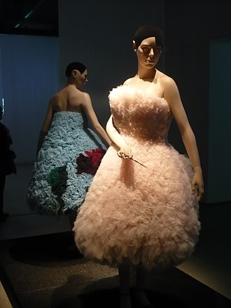 Hussein Chalayan - Sculpted tulle dresses displayed at the Design Museum in 2009.