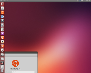 "Screenshot von Ubuntu 13.10 ""Saucy Salamander"""