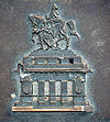 """The """"Deutsches Eck"""" on an iron plate"""