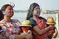 Devotees - Durga Idol Immersion Ceremony - Baja Kadamtala Ghat - Kolkata 2012-10-24 1539.JPG